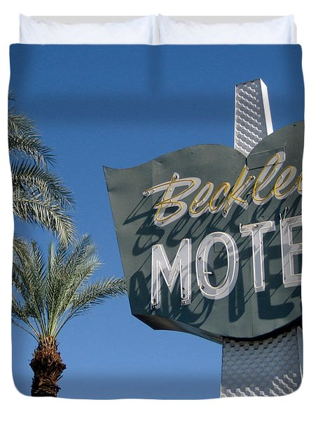 Beckley's Motel Cathedral City Duvet Cover