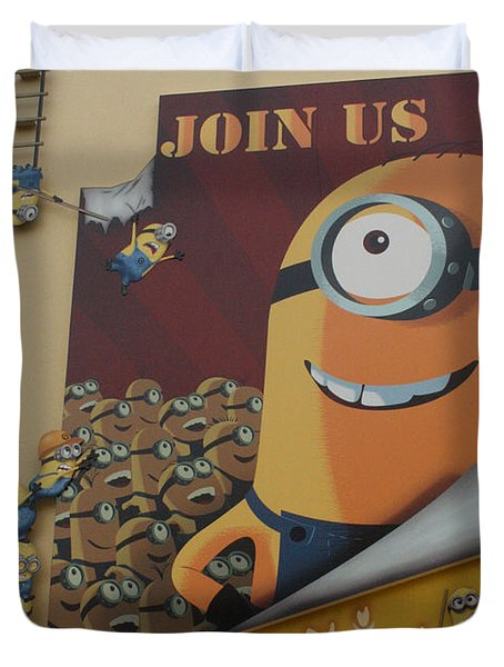Become A Minion Duvet Cover by David Nicholls