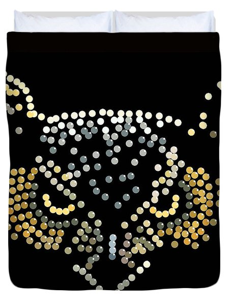Bedazzled Owl Duvet Cover