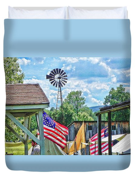 Duvet Cover featuring the photograph Bedford Village Pennsylvania by Kathy Churchman