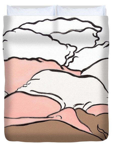 Bedscape Two Am Duvet Cover by Stan  Magnan