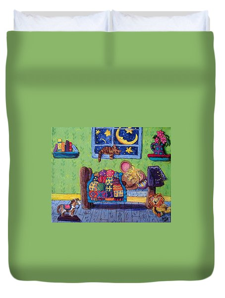 Bedtime Mouse Duvet Cover by Megan Walsh