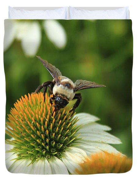 Bee 7 Duvet Cover by Reid Callaway