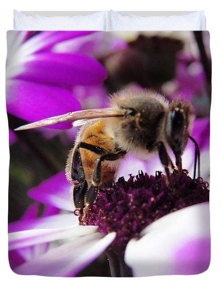 Bee Happy Duvet Cover by Norma Brock