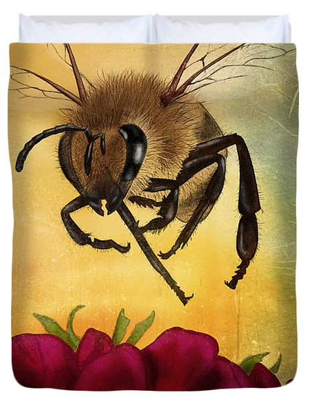 Bee I Duvet Cover