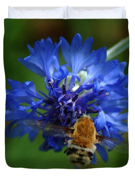 Duvet Cover featuring the photograph Bee by Leticia Latocki