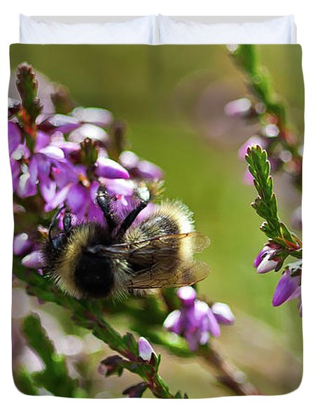 Bee On Heather Duvet Cover