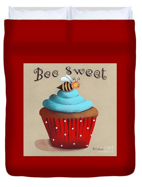 Bee Sweet Cupcake Duvet Cover by Catherine Holman
