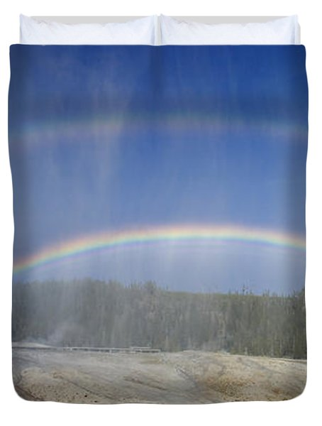 Beehive's Double  Rainbow Duvet Cover