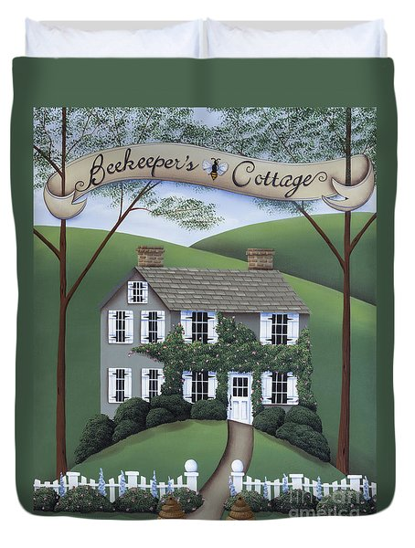 Beekeeper's Cottage Duvet Cover by Catherine Holman