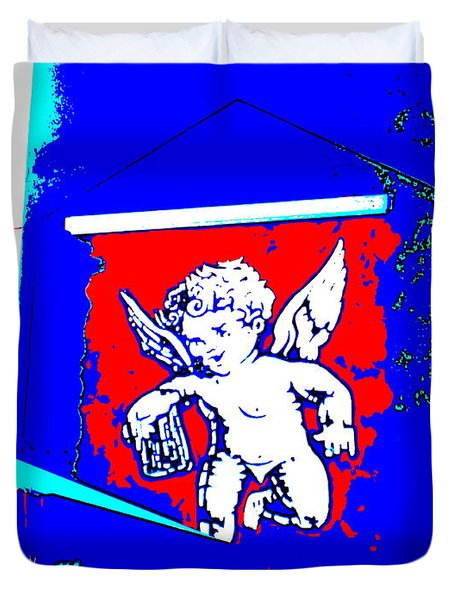 Beer From An Angel Duvet Cover by Roberto Gagliardi