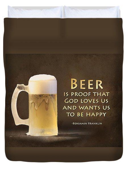 Beer Duvet Cover by Lori Deiter