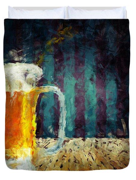 Beer Time Duvet Cover by Adam Vance