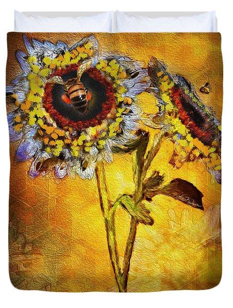 Bees To Honey Duvet Cover