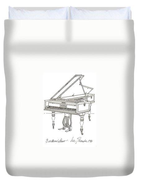 Beethoven's Broadwood Grand  Piano Duvet Cover