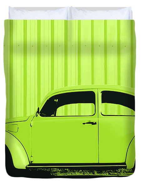 Beetle Pop Lime Duvet Cover
