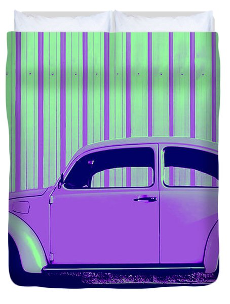 Beetle Pop Purple Duvet Cover