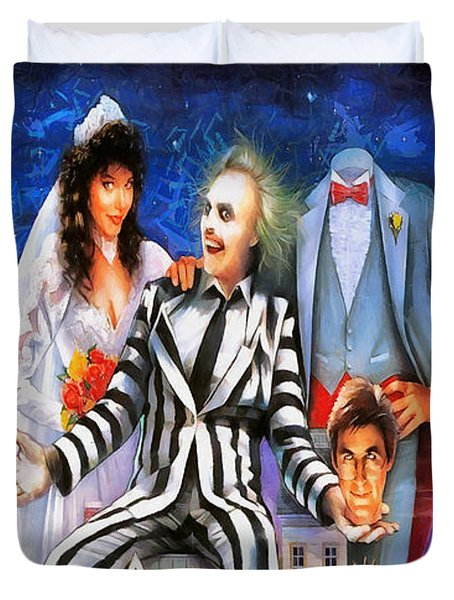 Beetlejuice Duvet Cover by Joe Misrasi