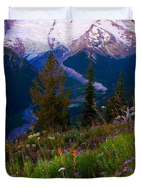 Before Dawn At Mount Rainier Duvet Cover