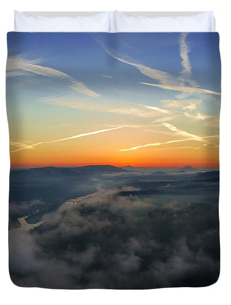 Before Sunrise On The Lilienstein Duvet Cover