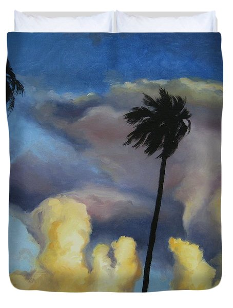 Before Sunset Duvet Cover by Jindra Noewi