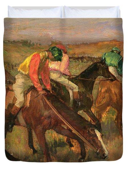 Before The Races Duvet Cover by Edgar Degas