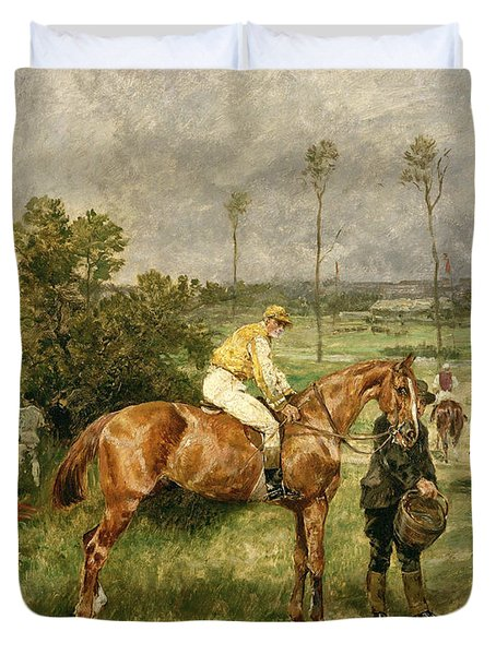 Before The Start Duvet Cover by John Lewis Brown