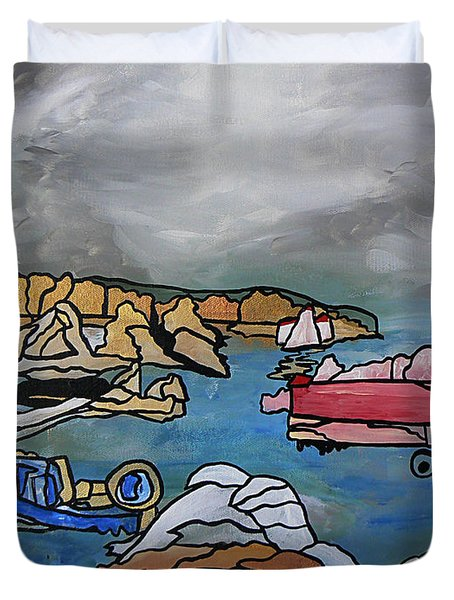 Duvet Cover featuring the painting Before The Storm by Barbara St Jean