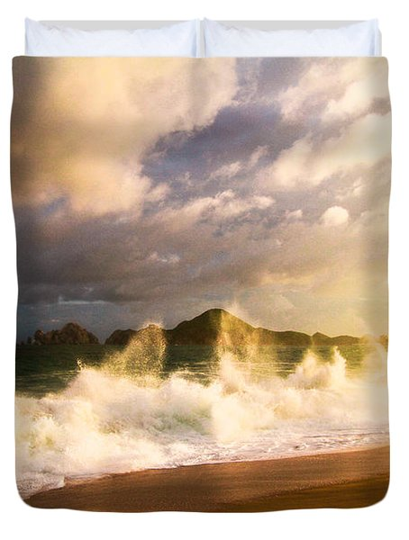 Duvet Cover featuring the photograph Before The Storm by Eti Reid