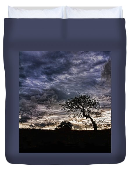 Nova Scotia's Lonely Tree Before The Storm  Duvet Cover