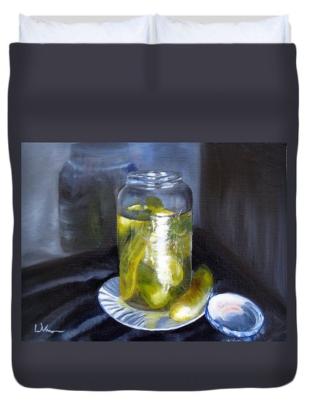 Duvet Cover featuring the painting Before They Are Gone by LaVonne Hand