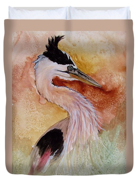 Behind The Grasses Duvet Cover by Lil Taylor