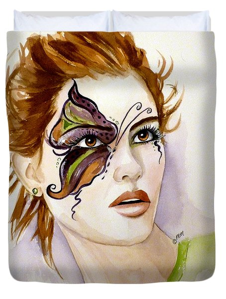 Behind The Mask Duvet Cover