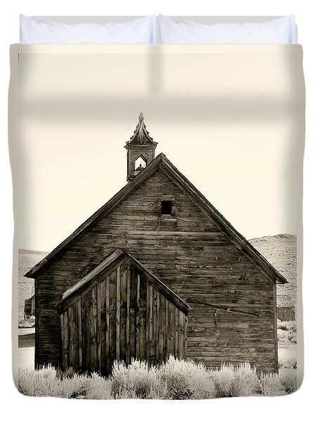 Behind The Steeple By Diana Sainz Duvet Cover