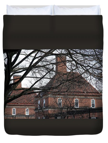 The British Ambassador's Residence Behind Trees Duvet Cover by Cora Wandel