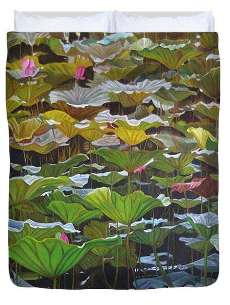 Beijing In August Duvet Cover by Thu Nguyen