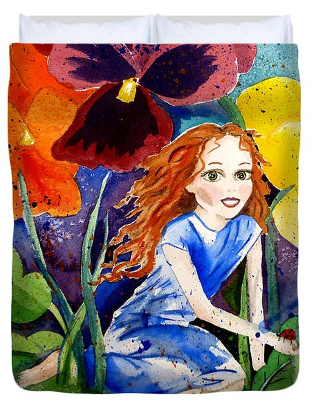 Tiny Flower Fairy Duvet Cover