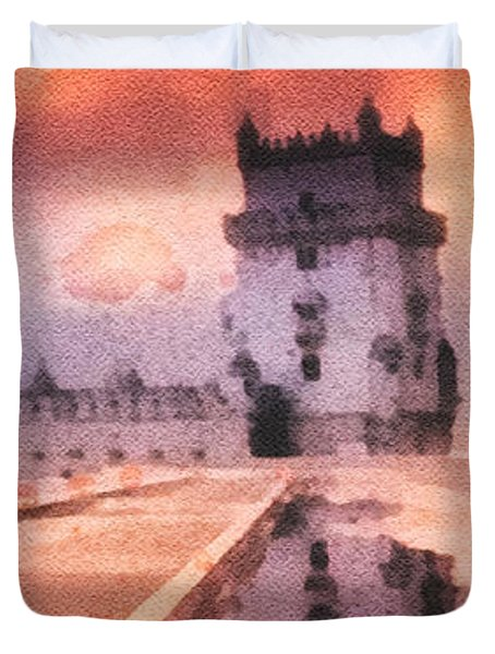 Belem Tower Duvet Cover by Mo T
