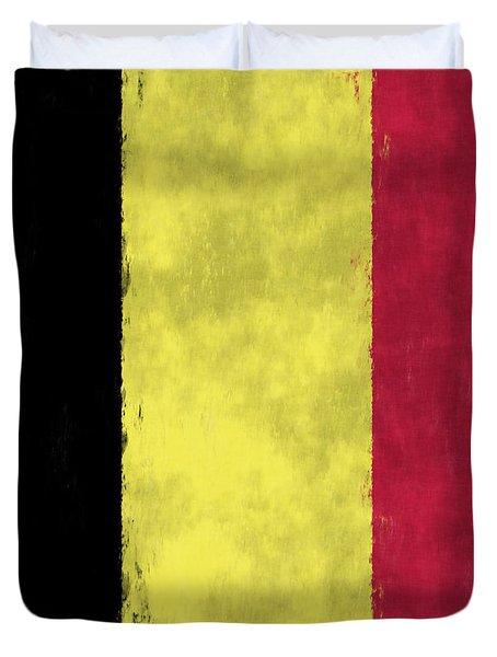 Belgium Flag Duvet Cover by World Art Prints And Designs