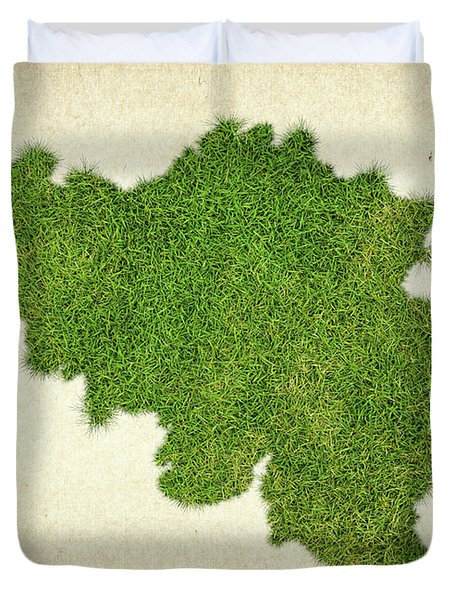 Belgium Grass Map Duvet Cover