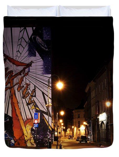 Belgium Street Art Duvet Cover by Juli Scalzi