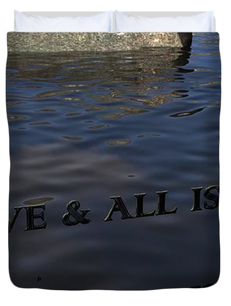 Believe And All Is Possible Duvet Cover by James Barnes