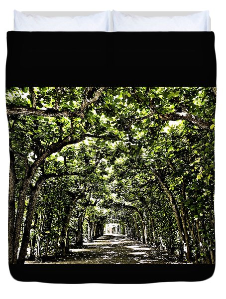 Duvet Cover featuring the photograph Believes ... by Juergen Weiss