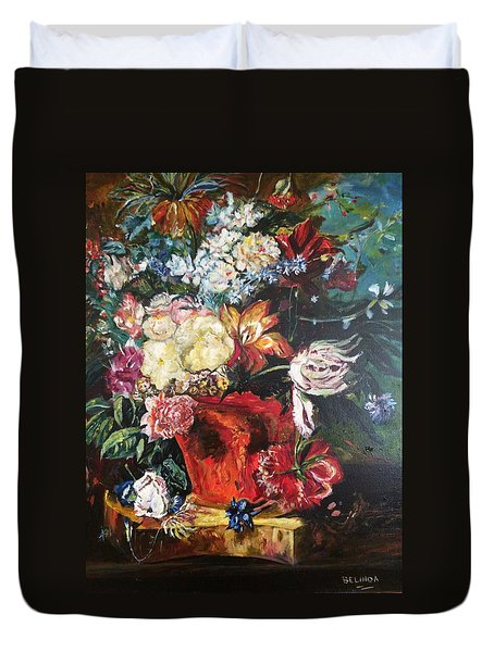 Life Is A Bouquet Of Flowers  Duvet Cover by Belinda Low