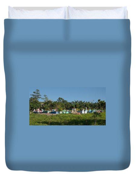 Belize Cemetery Duvet Cover