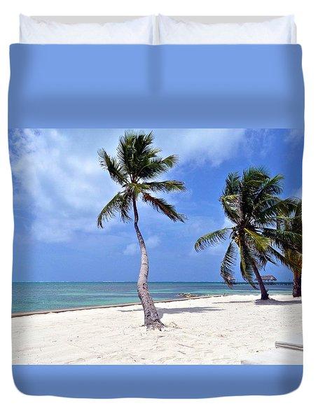 Beautiful Belize Palms Duvet Cover