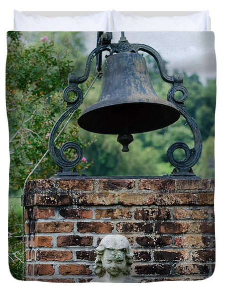 Bell Brick And Statue Duvet Cover