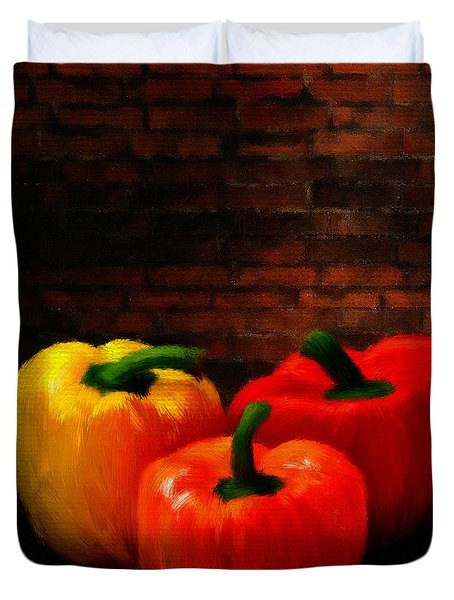 Bell Peppers Duvet Cover