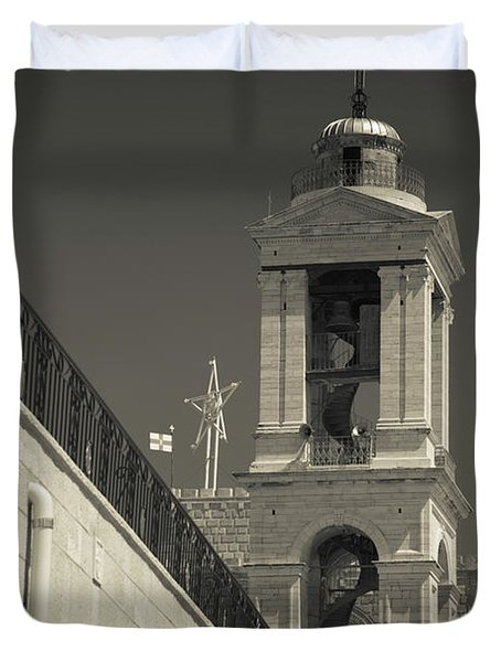 Bell Tower Of The Church Duvet Cover