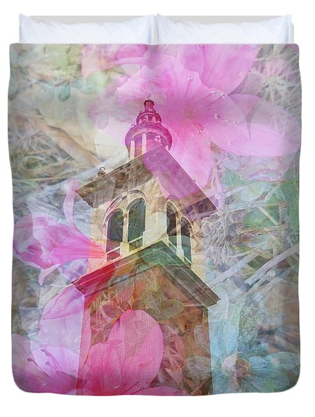 Bell Tower Wrapped In Spring Duvet Cover